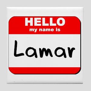 Hello my name is Lamar Tile Coaster