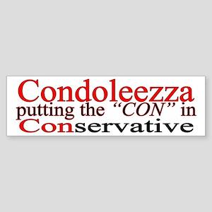 Condoleezza Bumper Sticker (condoleezza rice)