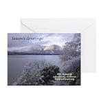 Mt Konocti in Winter Greeting Cards (Pk of 10)
