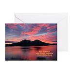 Sunset on Mt Konocti Greeting Cards (Pk of 10)