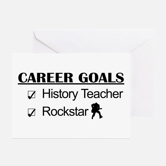History Teacher Career Goals - Rockstar Greeting C