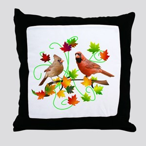 Cardinal Couple Throw Pillow