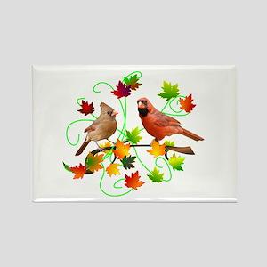 Cardinal Couple Rectangle Magnet