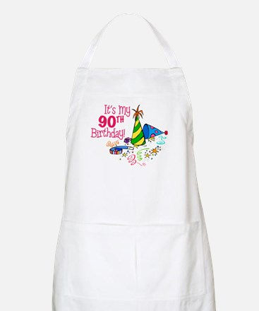 It's My 90th Birthday (Party Hats) BBQ Apron