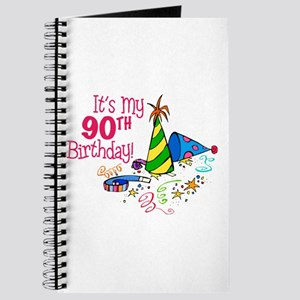 It's My 90th Birthday (Party Hats) Journal