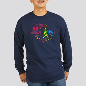 It's My 90th Birthday (Party Hats) Long Sleeve Dar