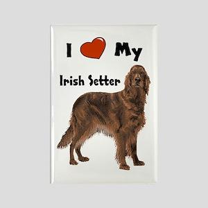 I Love My Irish Setter Rectangle Magnet