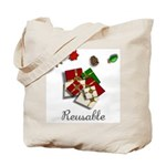 Reusable Holiday Canvas Gift Tote Bag