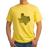 Texas State Cornhole Champion Yellow T-Shirt
