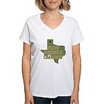 Texas State Cornhole Champion Women's V-Neck T-Shi