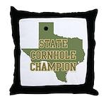 Texas State Cornhole Champion Throw Pillow
