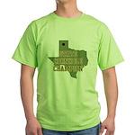 Texas State Cornhole Champion Green T-Shirt
