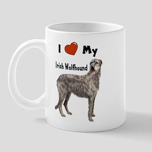 I Love My Irish Wolfhound Mug