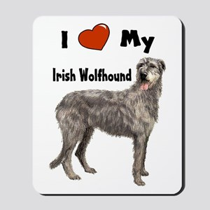 I Love My Irish Wolfhound Mousepad