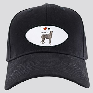 I Love My Irish Wolfhound Black Cap