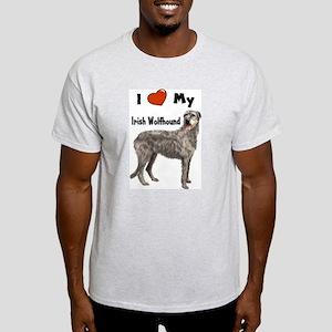I Love My Irish Wolfhound Light T-Shirt