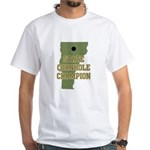 Vermont State Cornhole Champi White T-Shirt