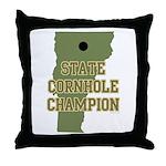 Vermont State Cornhole Champi Throw Pillow