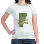 Vermont State Cornhole Champi Jr. Ringer T-Shirt