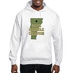 Vermont State Cornhole Champi Hooded Sweatshirt