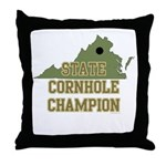 Virginia State Cornhole Champ Throw Pillow
