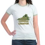 Virginia State Cornhole Champ Jr. Ringer T-Shirt