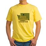 Washington State Cornhole Cha Yellow T-Shirt