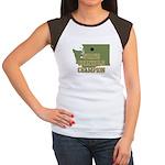Washington State Cornhole Cha Women's Cap Sleeve T