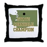 Washington State Cornhole Cha Throw Pillow