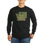 Washington State Cornhole Cha Long Sleeve Dark T-S