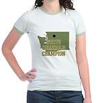 Washington State Cornhole Cha Jr. Ringer T-Shirt