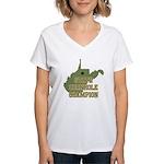 West Virginia State Cornhole Women's V-Neck T-Shir