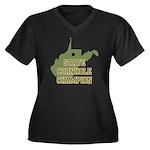 West Virginia State Cornhole Women's Plus Size V-N