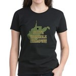 West Virginia State Cornhole Women's Dark T-Shirt