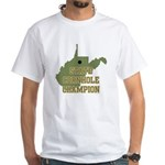 West Virginia State Cornhole White T-Shirt