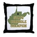 West Virginia State Cornhole Throw Pillow