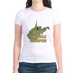 West Virginia State Cornhole Jr. Ringer T-Shirt