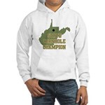 West Virginia State Cornhole Hooded Sweatshirt
