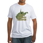 West Virginia State Cornhole Fitted T-Shirt
