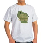 Wisconsin State Cornhole Cham Light T-Shirt