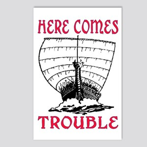 HERE COMES TROUBLE (VIKING) Postcards (Package of