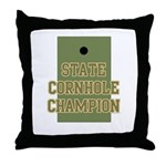 Generic State Cornhole Champi Throw Pillow