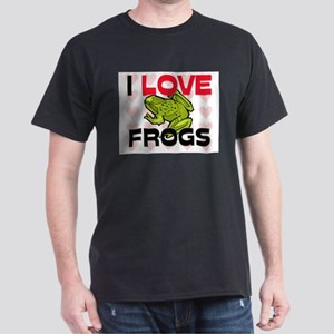 I Love Frogs Dark T-Shirt