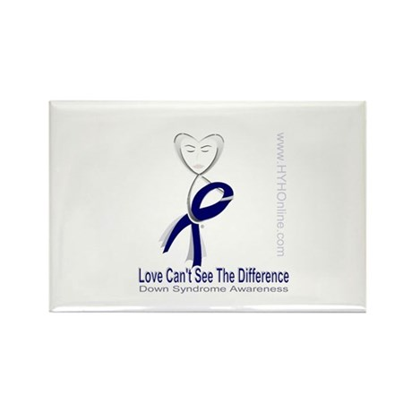 Love Can't See Rectangle Magnet (10 pack)