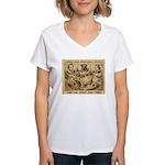 Great Dog Tiger Women's V-Neck T-Shirt