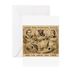 Great Dog Tiger Greeting Card