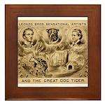 Great Dog Tiger Framed Tile