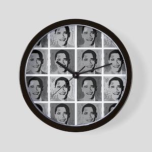 Black & white Obama Wall Clock