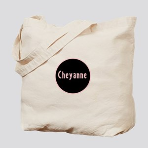 Cheyanne - Pink Name Circle Tote Bag