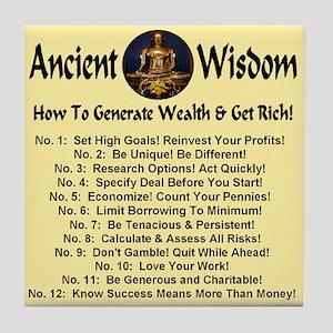 Twelve Wealth Generation Principles Tile Coaster